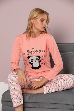 STRAWBERRY Kadın Kiremit Pamuklu Interlok Pijama Takimi