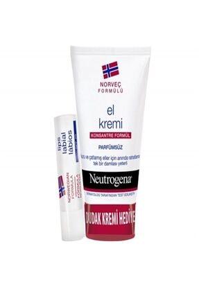 Neutrogena Parfümsüz El Kremi 75 Ml + Dudak Kremi