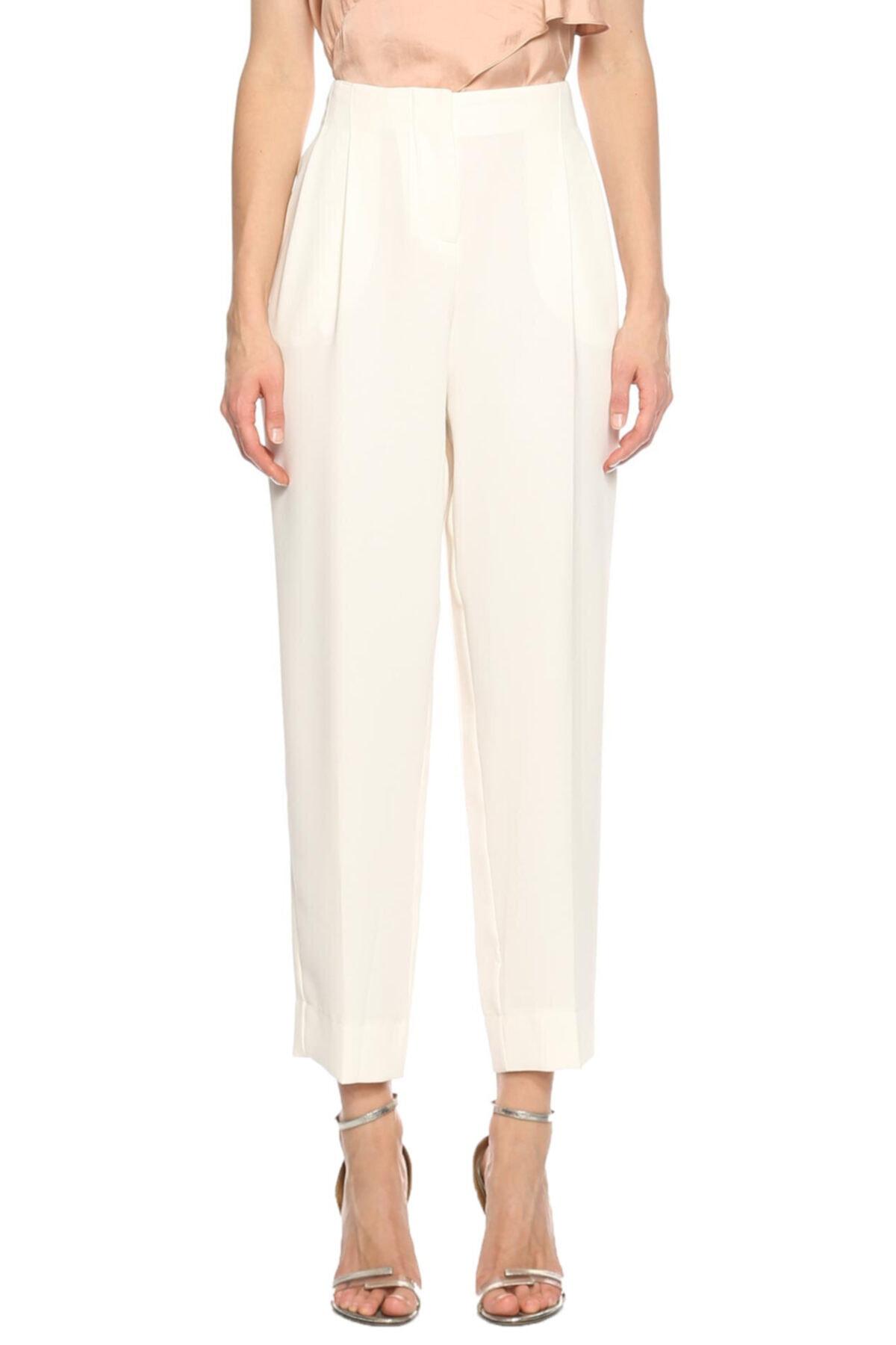 PHILOSOPHY FERRETTI Kadın Beyaz Klasik Pantolon 1