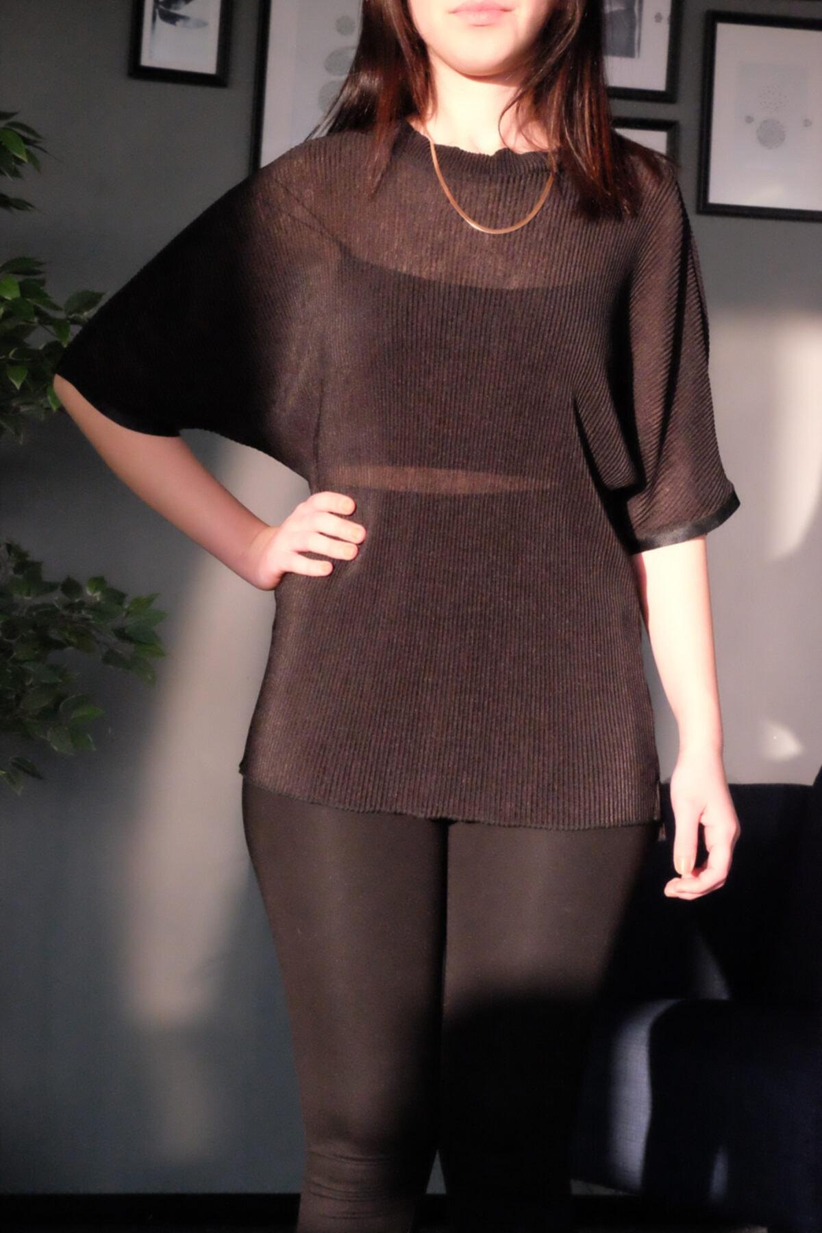 Hogg Kadın Siyah Pliseli Şık Bluz 1