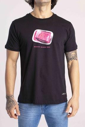 Catch Erkek Siyah Fight Club Baskılı T-Shirt