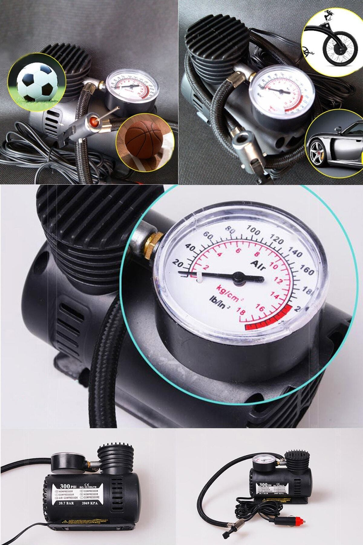 xolo Araba Oto Araç Lastik Şişirme Pompası Hava Kompresörü 300psi 12v 2