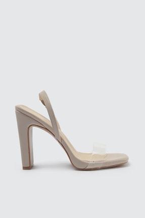 TRENDYOLMİLLA Ten Şeffaf Bantlı Kadın Klasik Topuklu Ayakkabı TAKSS21TO0005