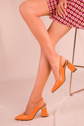 SOHO Turuncu Kadın Klasik Topuklu Ayakkabı 15906