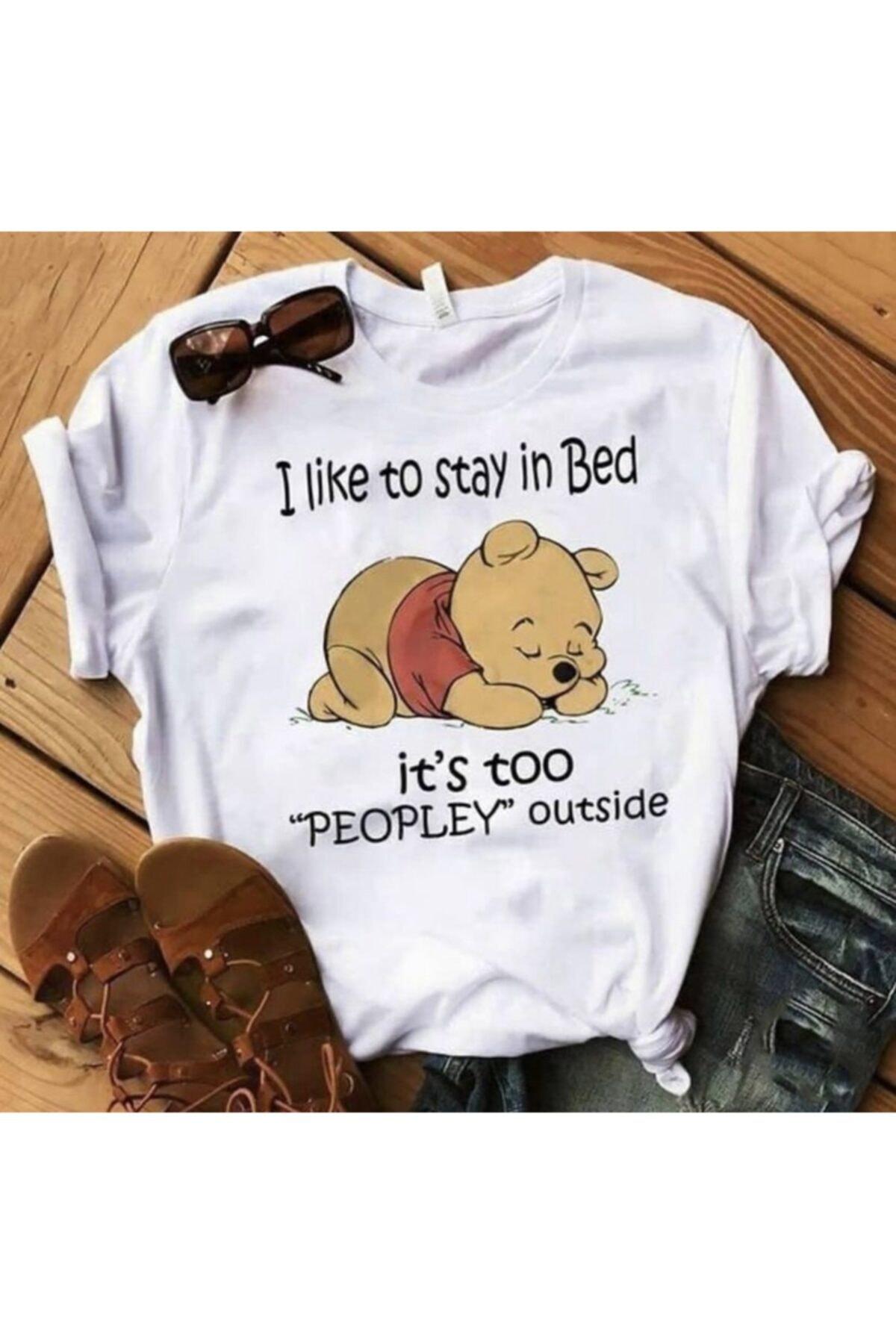 PULSAR COLLECTİON Kadın Beyaz Little Winnie Baskılı T-shirt 1
