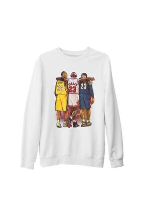 Lord T-Shirt Unisex Beyaz Basketball Jordan  James  Bryant Kalın Sweatshirt