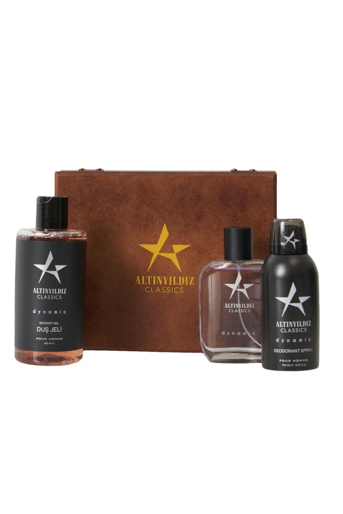 ALTINYILDIZ CLASSICS Erkek Siyah Parfüm Deodorant Duş Jeli Kişisel Bakım Seti 1