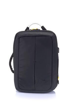 ÇÇS Unisex Siyah Şifreli Usb Laptop Sırt Çantası 15.6 Inc
