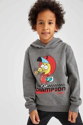 DeFacto Erkek Çocuk Gri Kral Şakir Lisanslı Sweatshirt