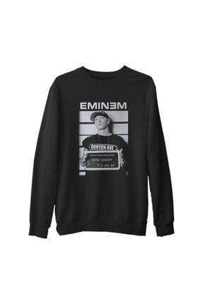 Lord T-Shirt Erkek Siyah Eminem Detroit Kalın Sweatshirt