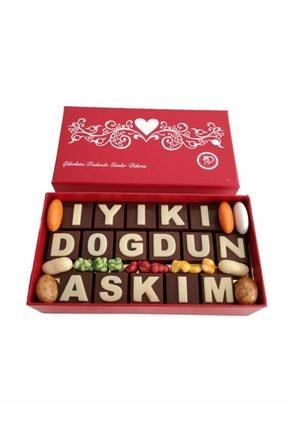 40 YIL ÇİKOLATA KAHVE Yazılı Harfli Isimli Doğum Günü Hediyelik Çikolata Kutusu Iyiki Doğdun Aşkım