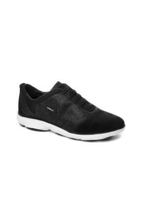 Geox Kadın Siyah Sneaker D641EG0EW22-Suet-SIYAH
