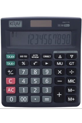 Kraft Kraf Hesap Makinesi Masaüstü 12 Hane Tax Hm-115