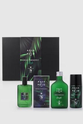 Aqua Di Polo 1987 Gran Paradiso Jungle Erkek Hediye Seti Parfüm,tıraş Kolonyası,deodorant Stcn000401