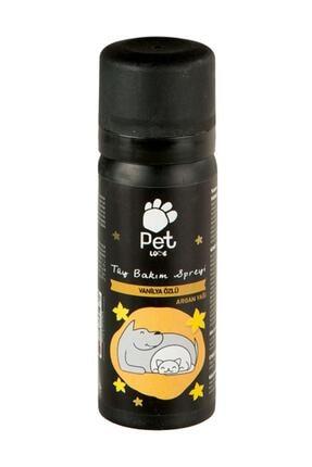 Pet Love Vanilya Özlü Kedi ve Köpek Tüy Bakım Spreyi Parfümü 50 ml