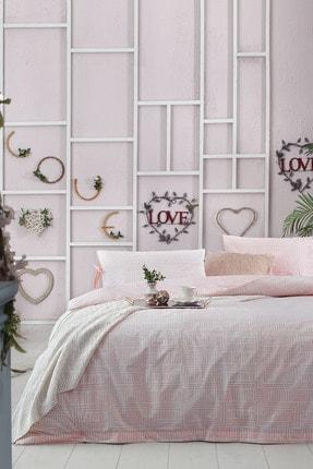 Yataş Bedding Açık Pembe  Desenli  Tek Kişilik Nevresim Takımı