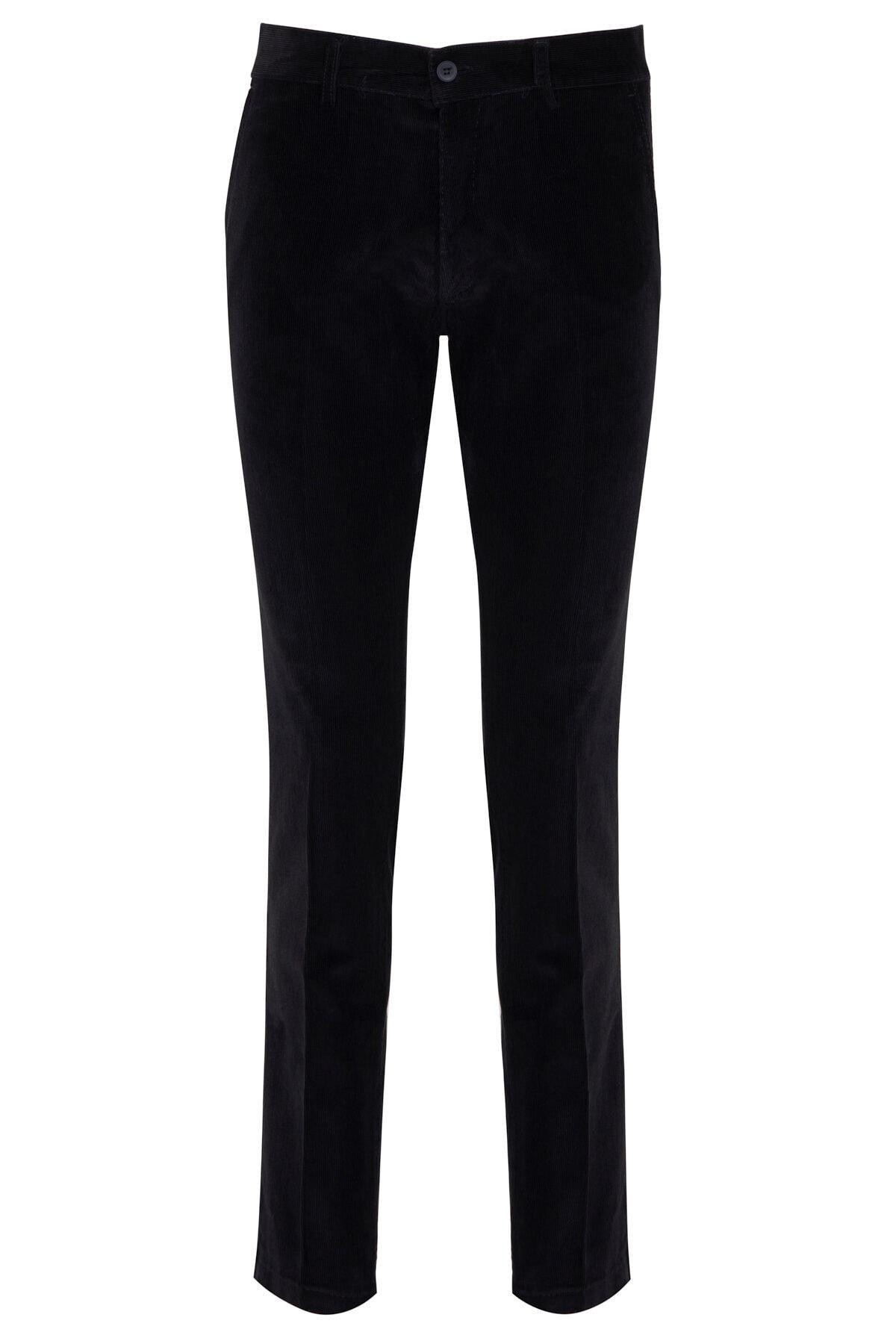 Hatemoğlu Lacivert Kadife Regular Pantolon 1