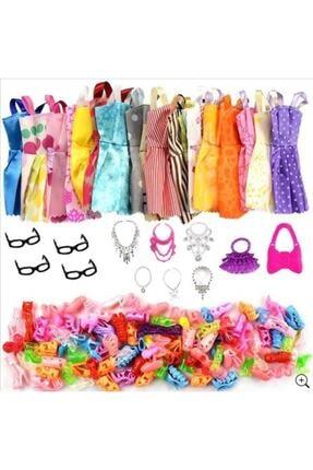 Legoedly Barbi Bebekler İçin Aksesuar Kıyafet Ayakkabı Seti Barbie Sindy Elsa Anna 32 Parça