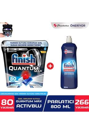 Finish Quantum Max 80 Tablet Bulaşık Makinesi Deterjanı + Parlatıcı 800 ml