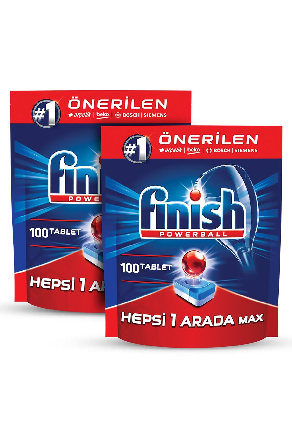 Finish Hepsi Bir Arada 200 Tablet Bulaşık Makinesi Deterjanı (100x2) 2