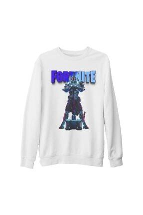 Lord T-Shirt Unisex Beyaz Fortnite Ultima Knight Blue Kalın Sweatshirt