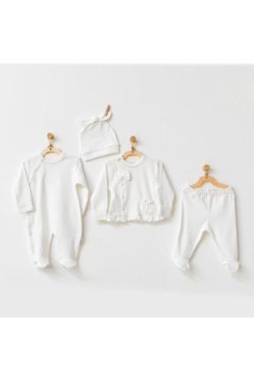andywawa Bebek Hastane Çıkışı 4 Pcs Newborn Tulle Set Natura Wawa Organıg Gırl