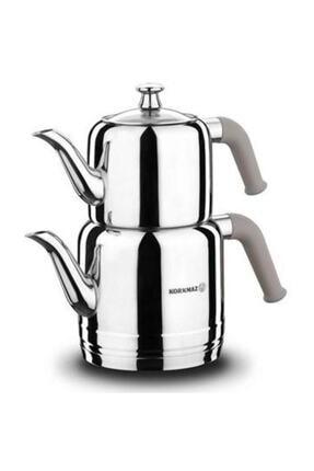 KORKMAZ Bej A189-02 Riva Çelik Çaydanlık Takımı