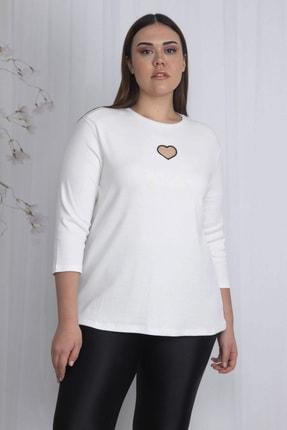 Şans Kadın Kemik Göğüs Detaylı Bluz 65N22445