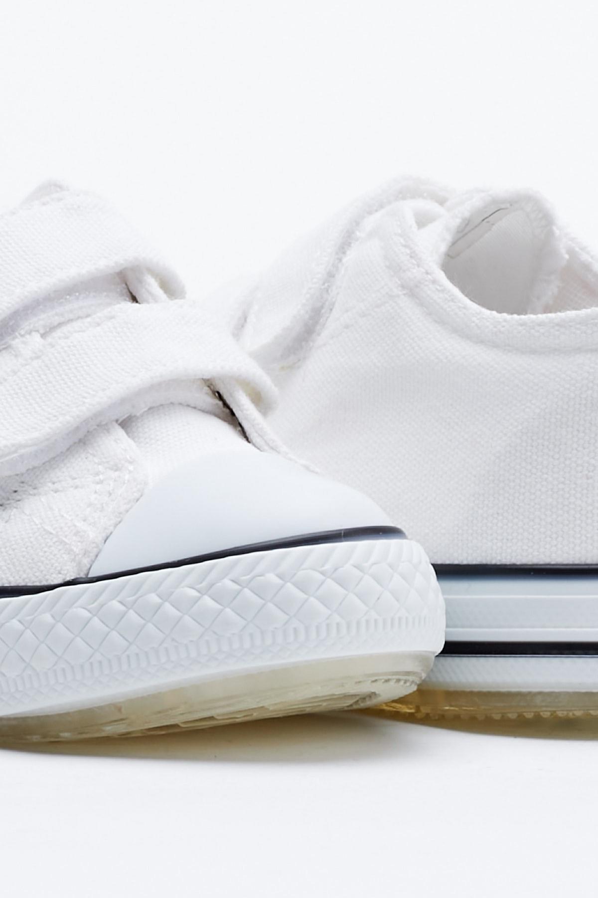 Tonny Black Beyaz Çocuk Spor Ayakkabı Cırtlı Tb997 2