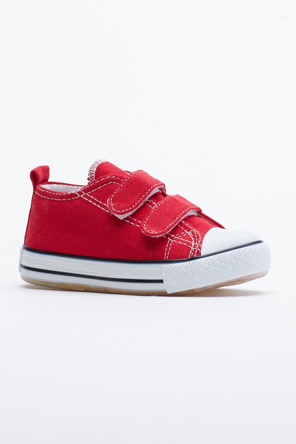 Tonny Black Kırmızı Çocuk Spor Ayakkabı Cırtlı Tb997