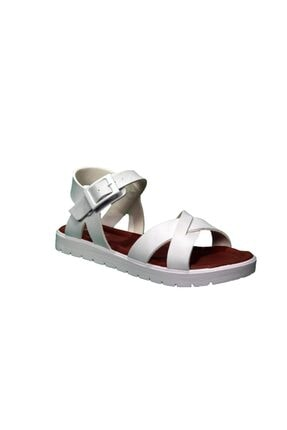 Polaris Kız Çocuk Beyaz Sandalet