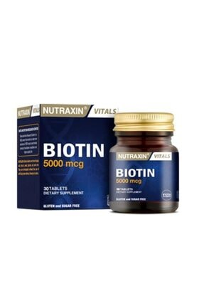 Nutraxin Biotin 5000 mcg 30 Tablet