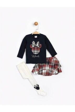 Minnie Mouse Kız Bebek Lacivert Etekli Takım Ve Külotlu Çorap 16096