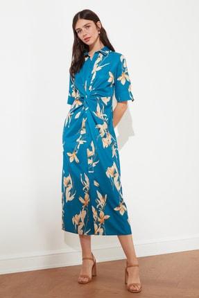 TRENDYOLMİLLA Çok Renkli Çiçek Desenli Elbise TWOSS21EL1018