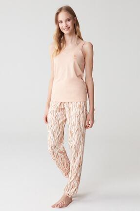 U.S. Polo Assn. Kadın Somon Pijama Takım