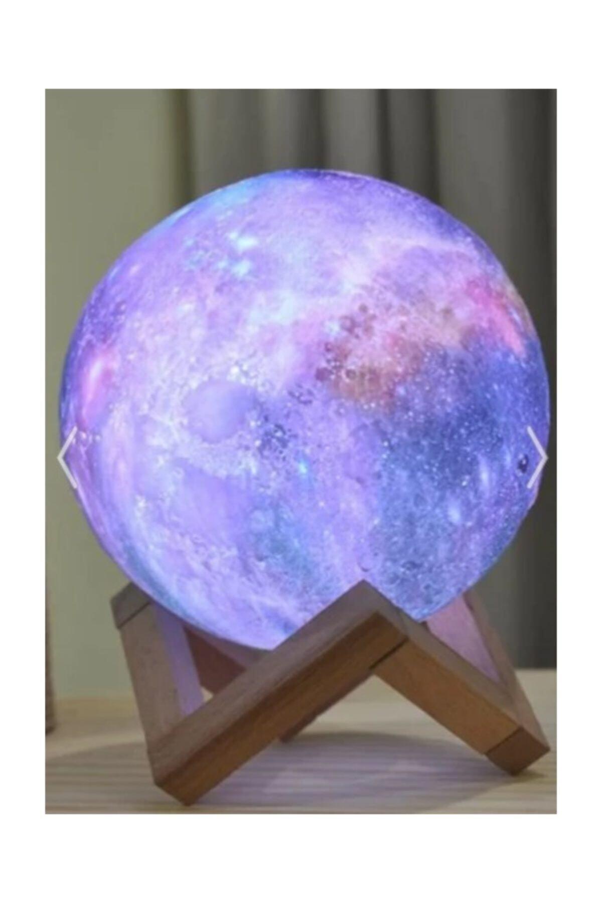 ELBA Dekoratif 3d Standlı 6 Renk Değiştiren Galaksi Gezegen Gece Lamba Ay-gezegen 1