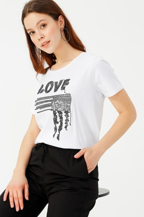 LİMON COMPANY Kadın Beyaz Tişört 504393898 Boyner