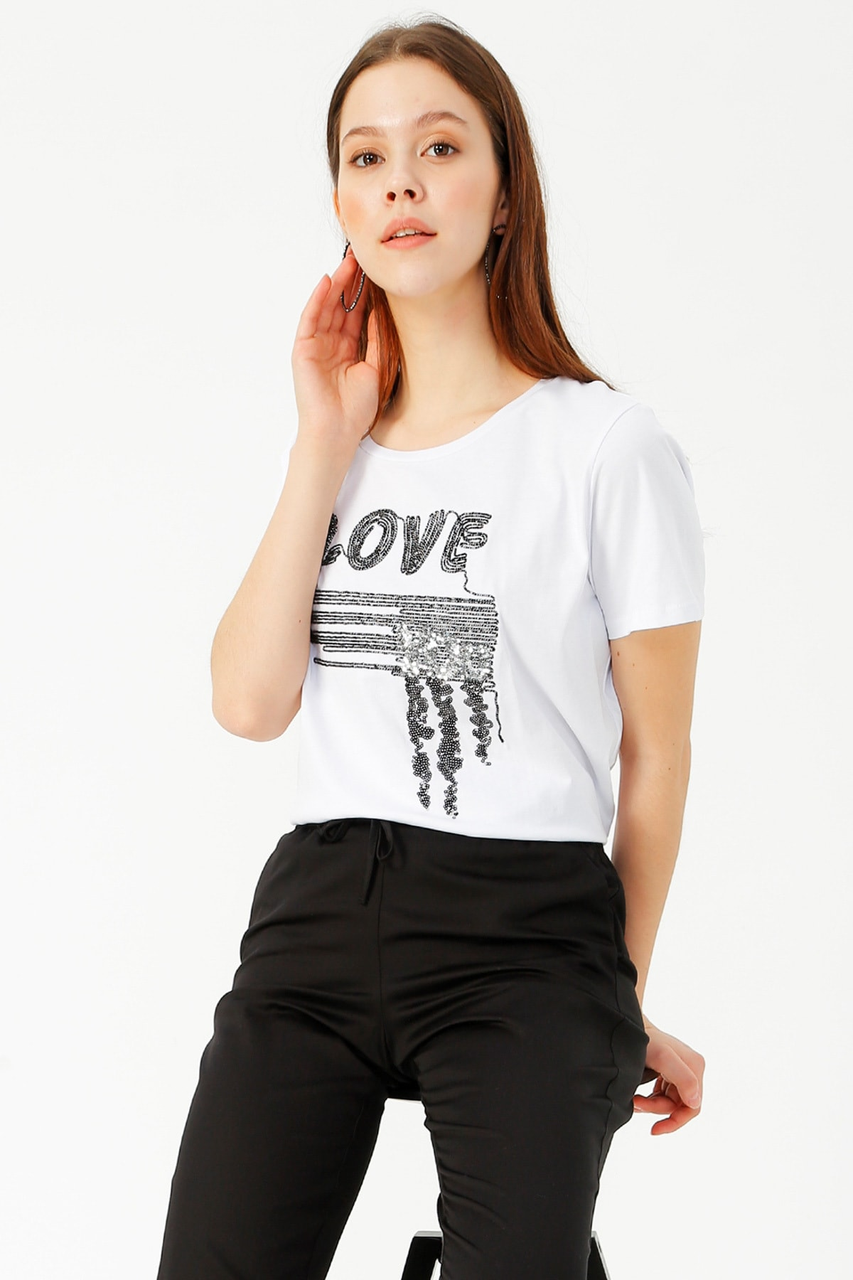 LİMON COMPANY Kadın Beyaz Tişört 504393898 Boyner 2