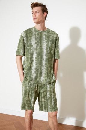 TRENDYOL MAN Haki Batik Örme Pijama Takımı THMSS21PT0303