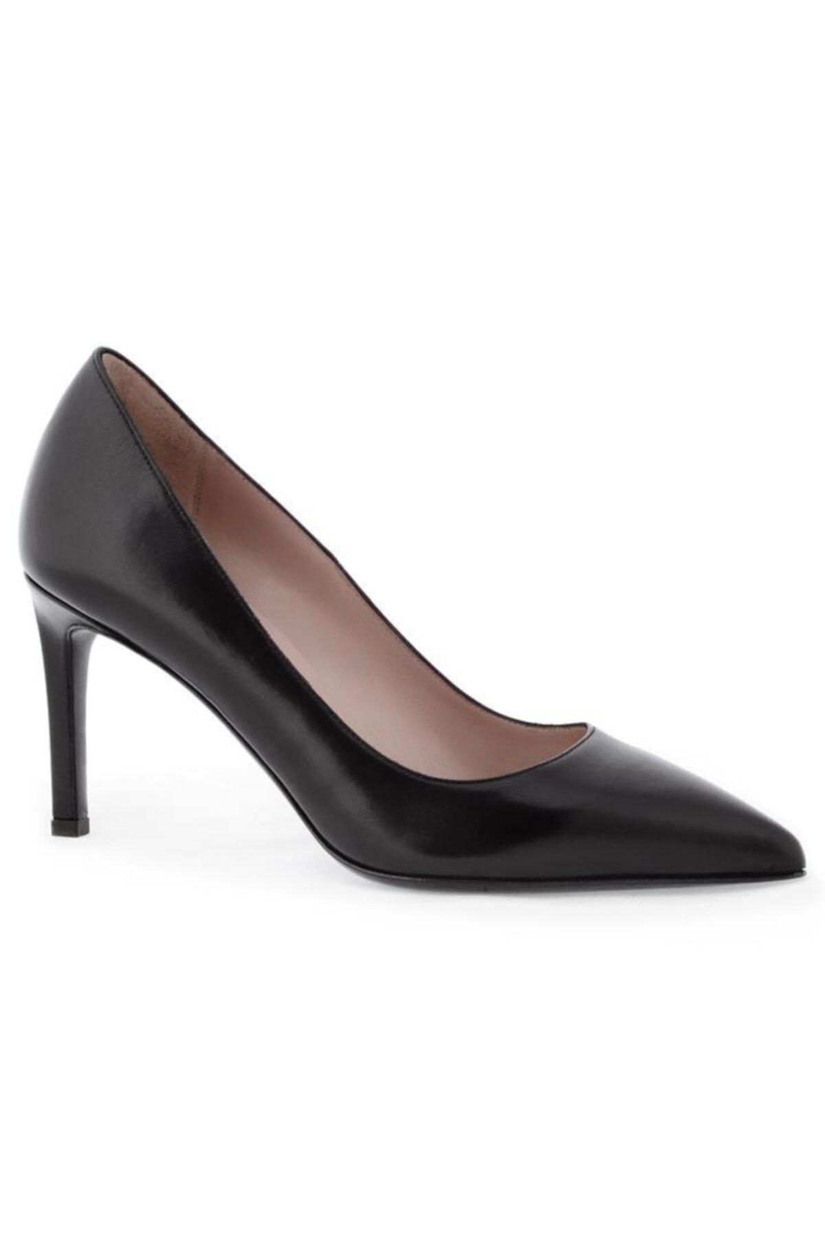 Nursace Hakiki Deri Klasik Topuklu Ayakkabı Nsc18y-a57101 2