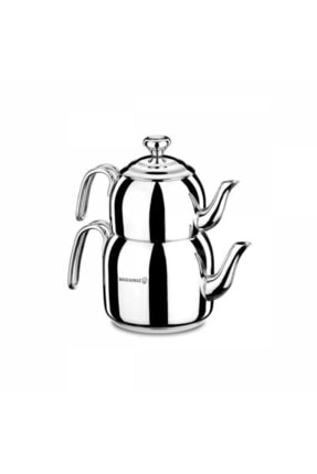 KORKMAZ Gümüş Droppa Mega Çaydanlık Takımı A058