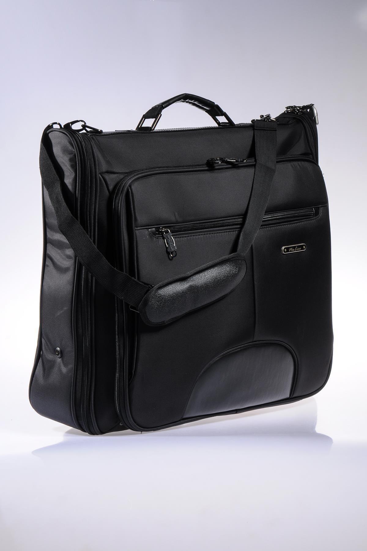 MÇS Mkte1503-s Line Siyah Takım Elbise Çantası 2