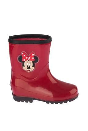 Minnie Mouse Kırmızı Çocuk Yağmur Botu