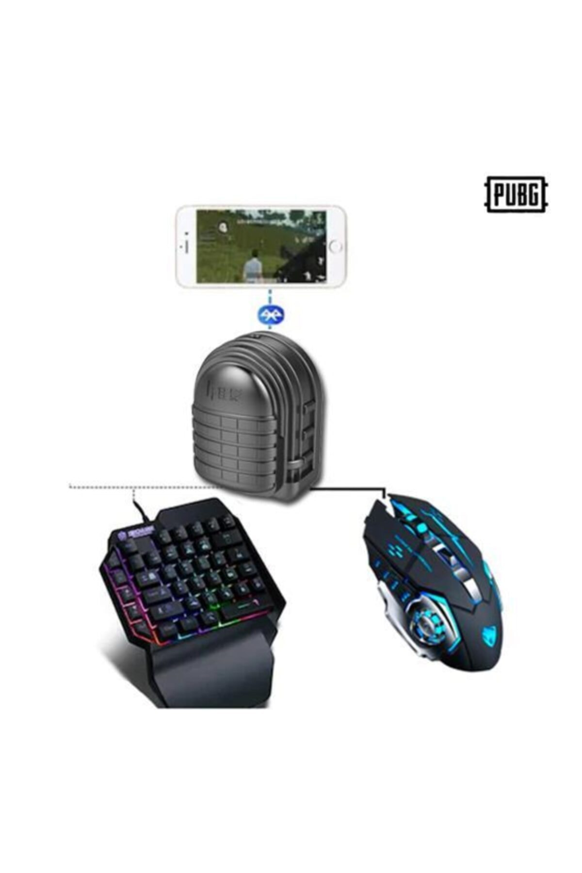 Taled Mix3 Oyun Konsolu Mıx 3 - Pub G Oyun Konsolu Pubg Klavye Mouse Bağlayıcı 3in1 1