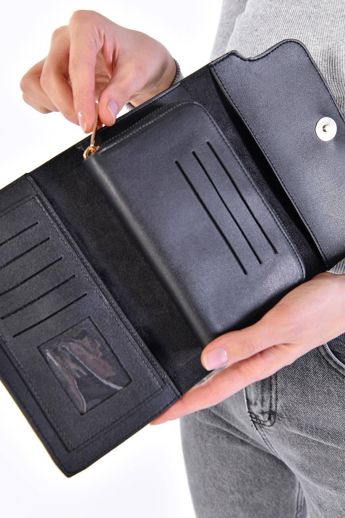 Addax Kadın Siyah Cüzdan Czdn55 - F6 Adx-0000019896 1