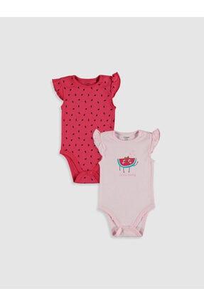 LC Waikiki Kız Bebek Pembe Fzp Bebek Body & Zıbın