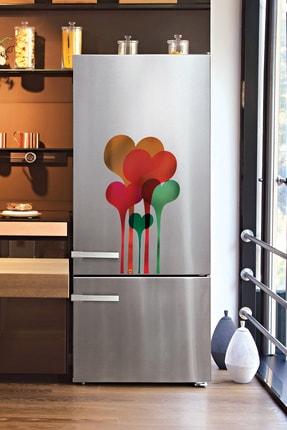 frideco Hearts Büyük Boy Dekoratif Buzdolabı Magneti (metalik Baskı) 40 Cmx75 Cm