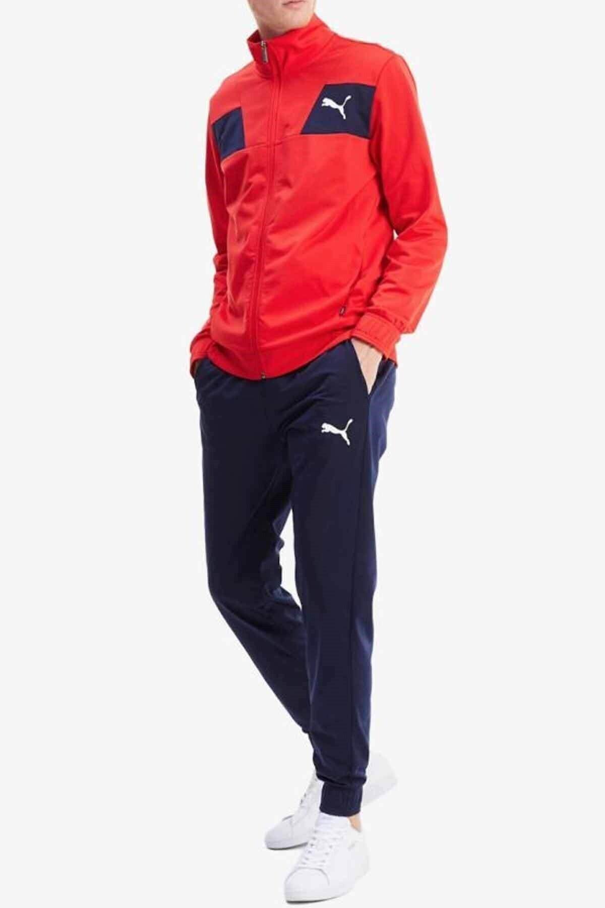 Puma Techstripe Tricot Suit Cl Erkek Eşofman Takım 583602 11-kırmızı 1