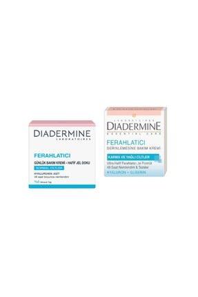 Diadermine Ferahlatıcı Normal Ciltler 50 Ml + Karma Ve Yağlı Ciltler 50 Ml