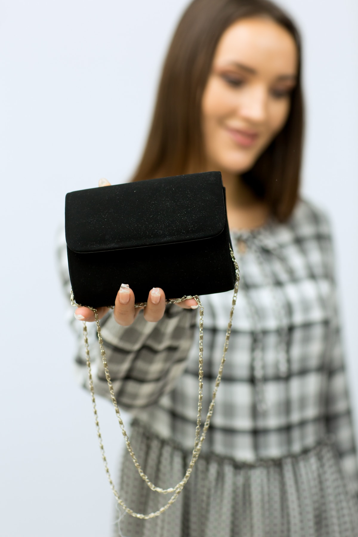 weem bag Kadın Siyah  Minik Nubuk Portföy Çanta 1